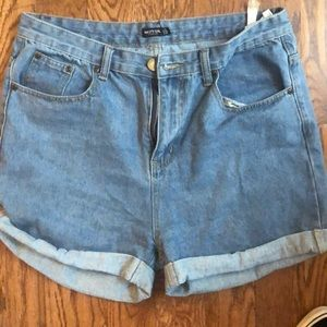 Nasty Gal  Blue Jean Shorts